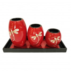 LACQUER CANDLE HOLDER